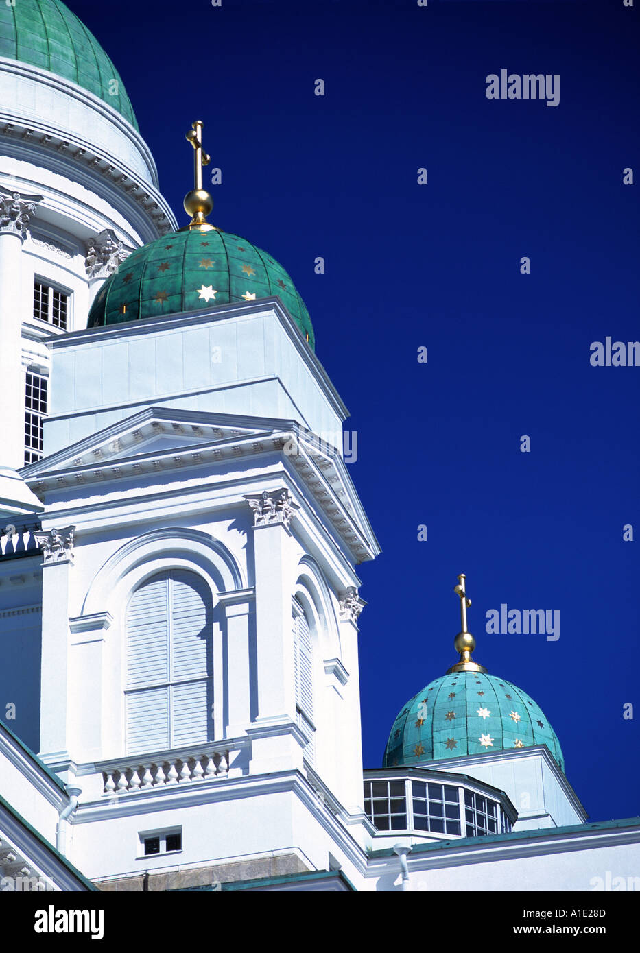 Detail of Lutheran Cathedral in Helsinki - Stock Image