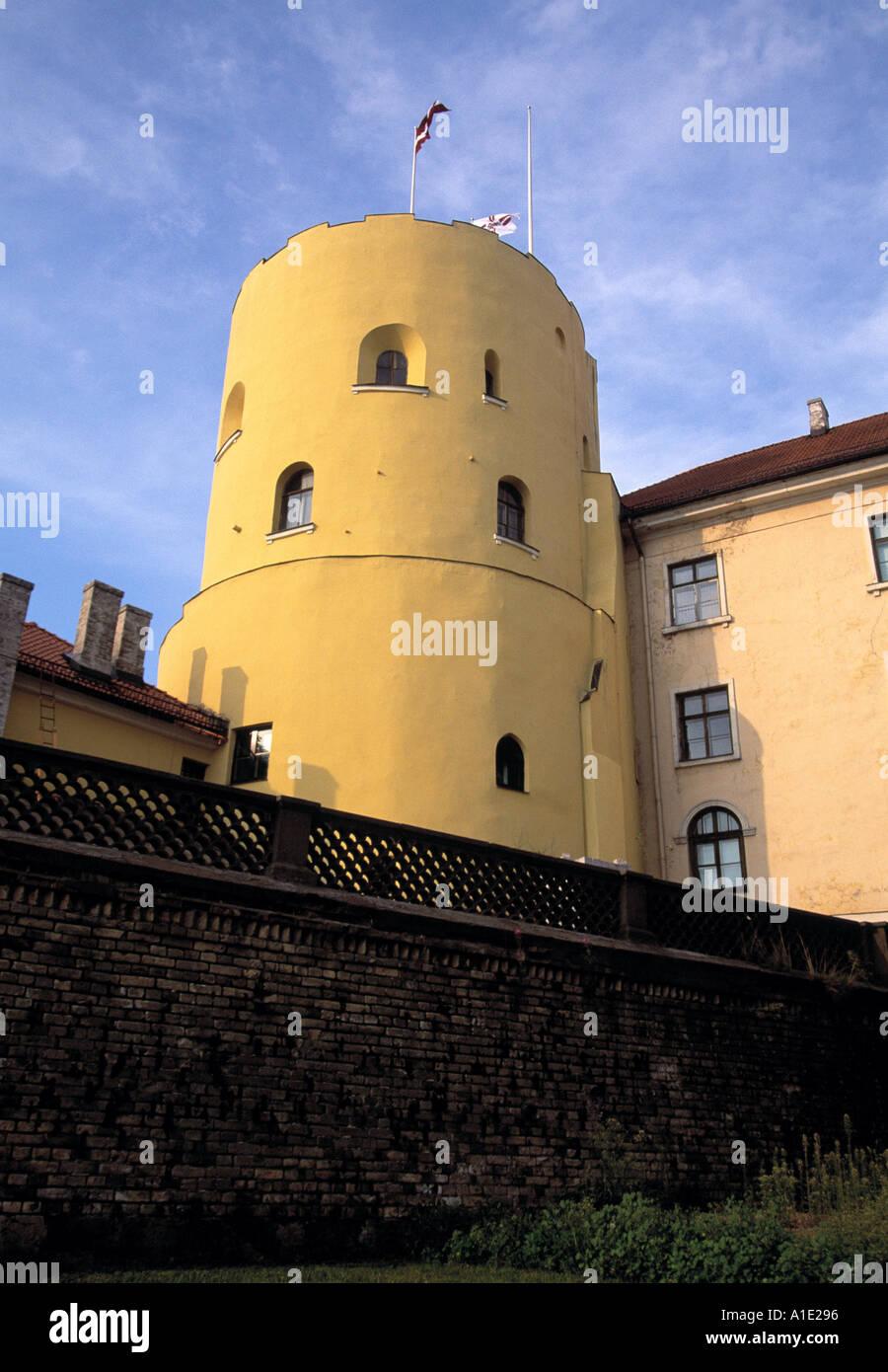 Riga Castle Walls - Stock Image