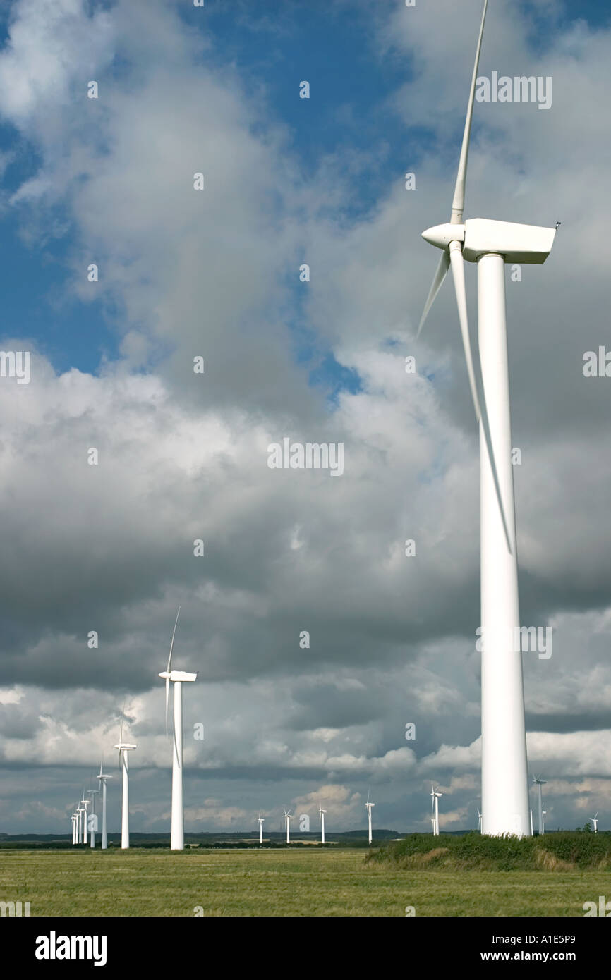 Windmill Park Lem Denmark Stock Photo: 5846568 - Alamy
