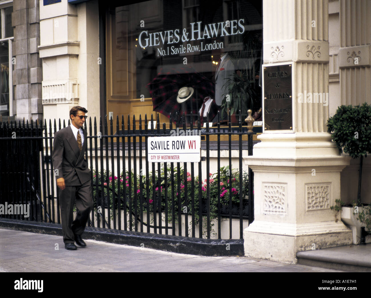 Tailor shop in Saville Row in London, England - Stock Image