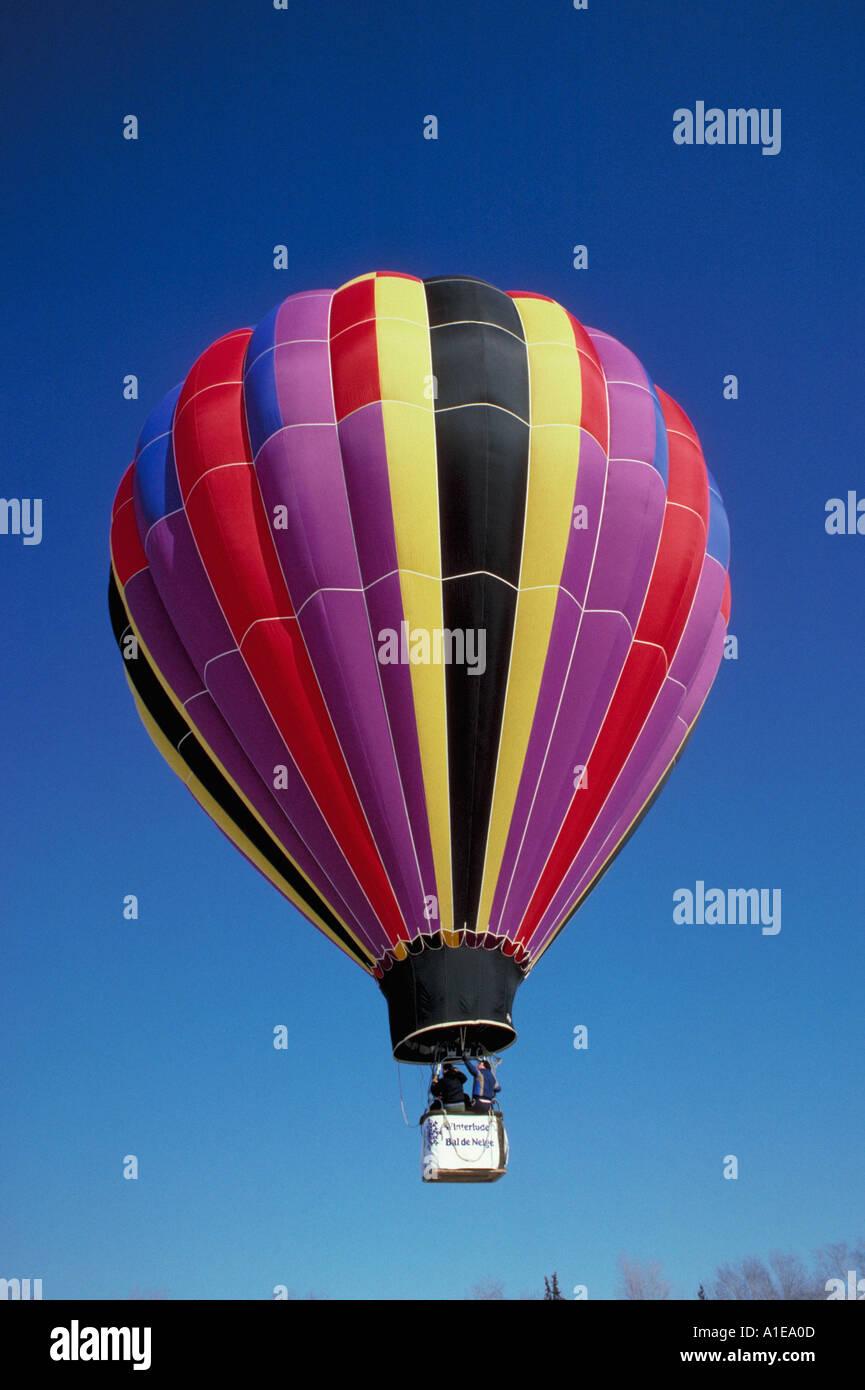 Hot air balloon Winterlude Ottawa Stock Photo