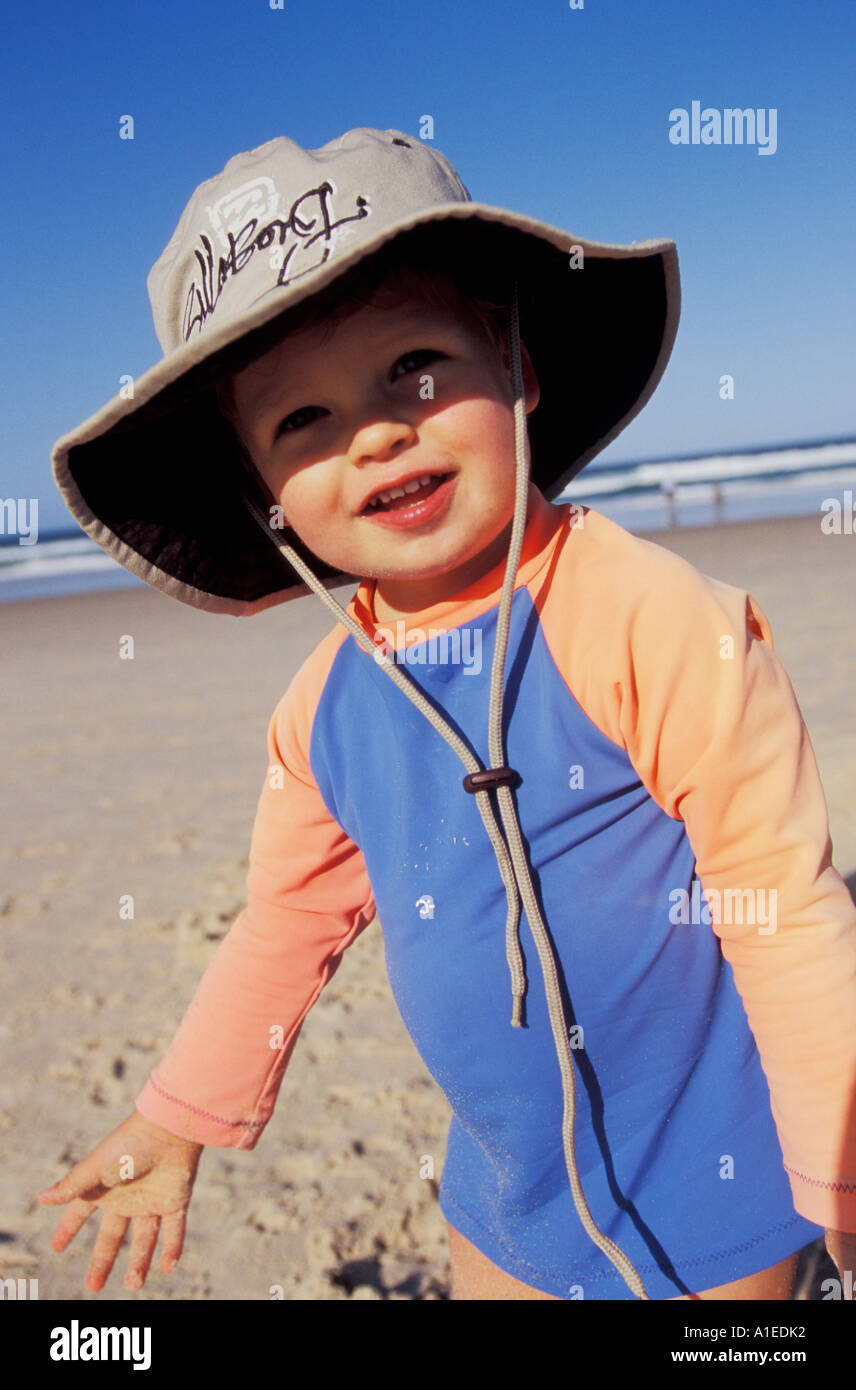 2 year old boy at beach Stock Photo  5848049 - Alamy 013f881022d3