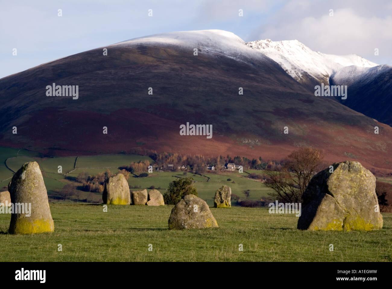 Doug Blane Castlerigg Stone Circle and Blencathra Saddleback near Keswick in the English Lake District National Stock Photo