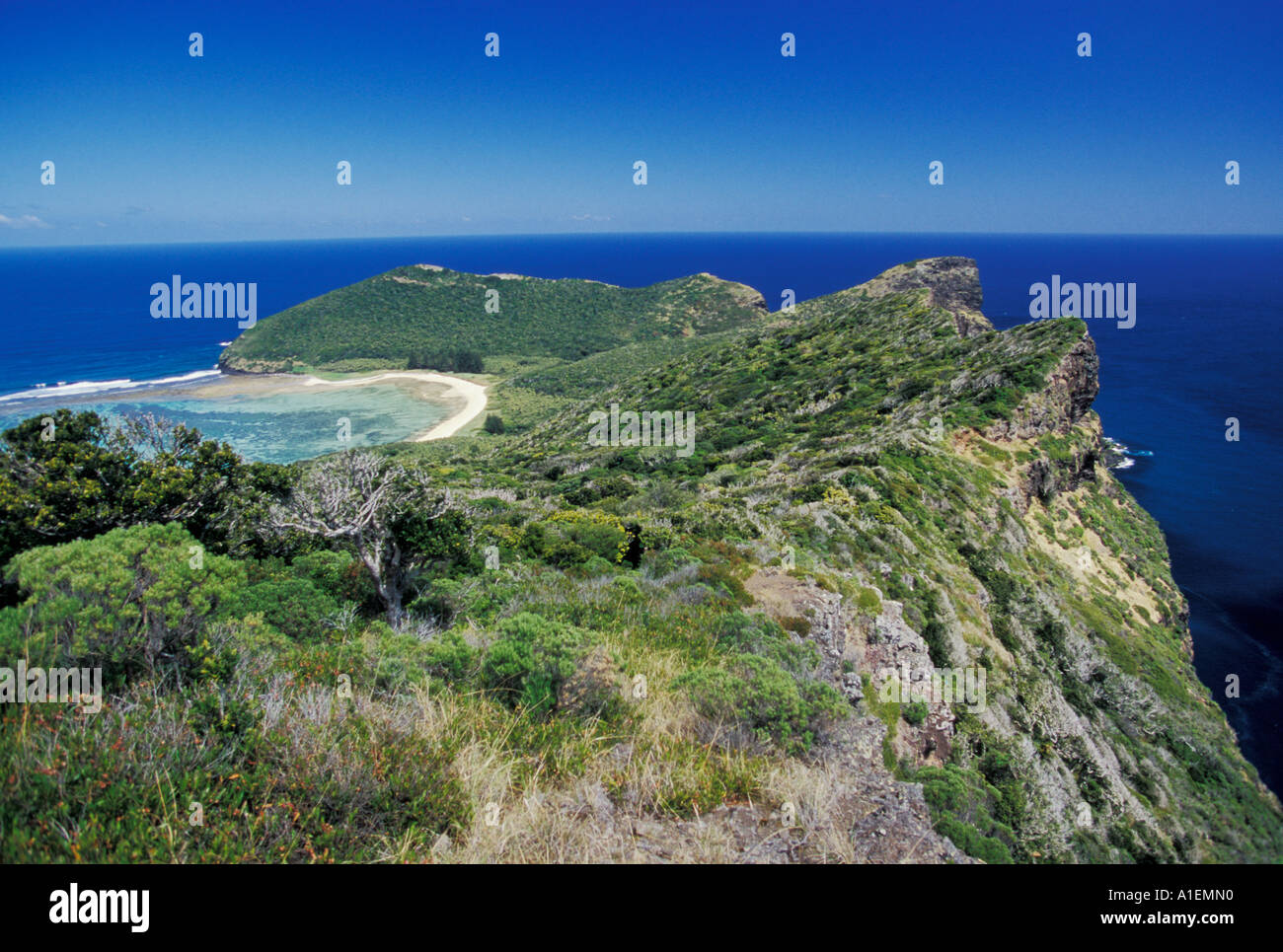 Lord Howe Island NSW Australia Shot from Kim s Lookout North Bay Mt Eliza - Stock Image