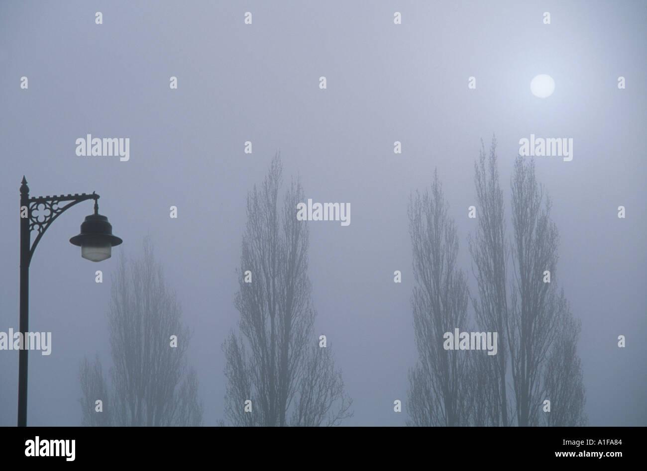 Mists Magdelene Bridge Oxford - Stock Image
