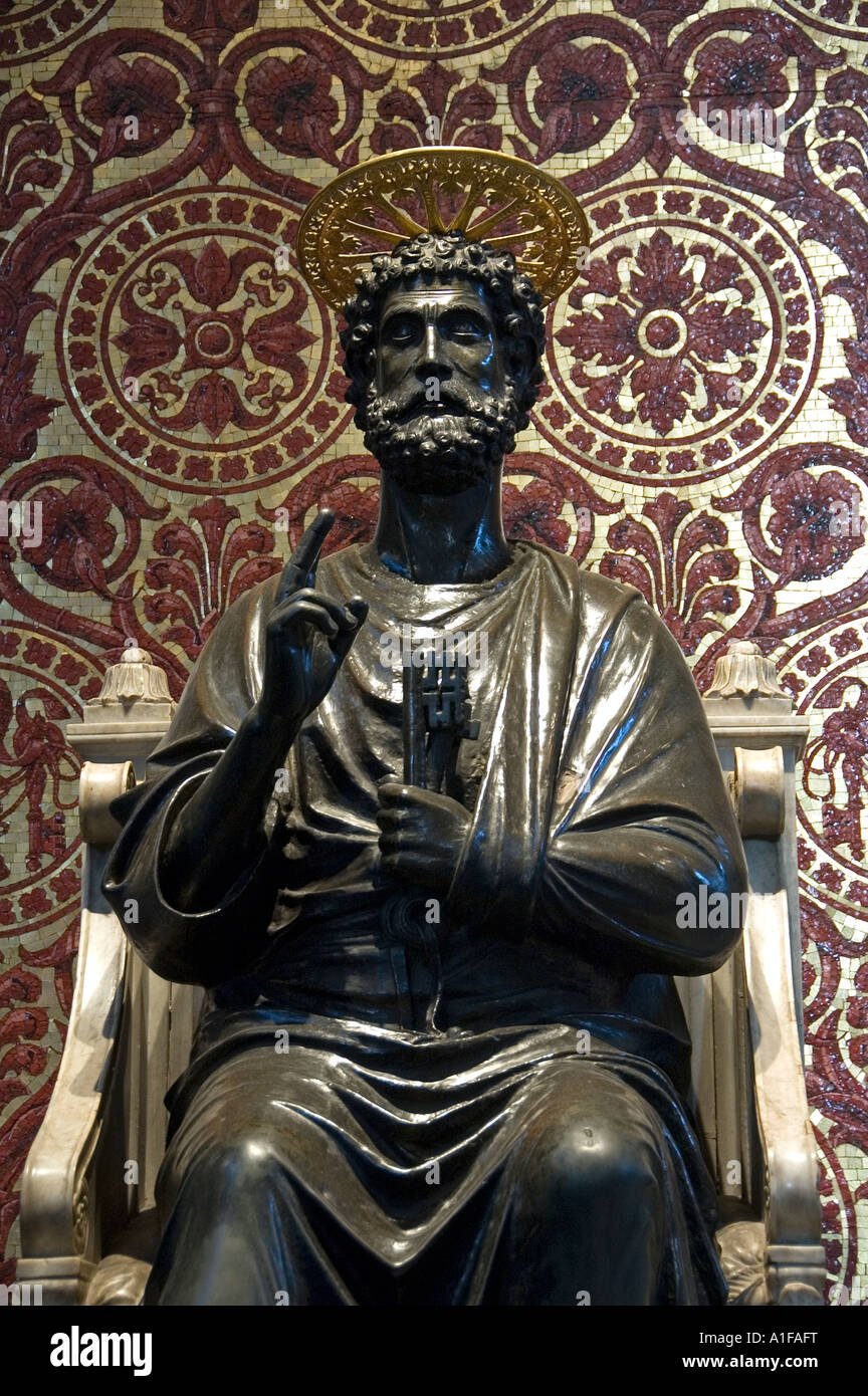 13th Century Bronze Statue Of St Peter Inside St Peter's