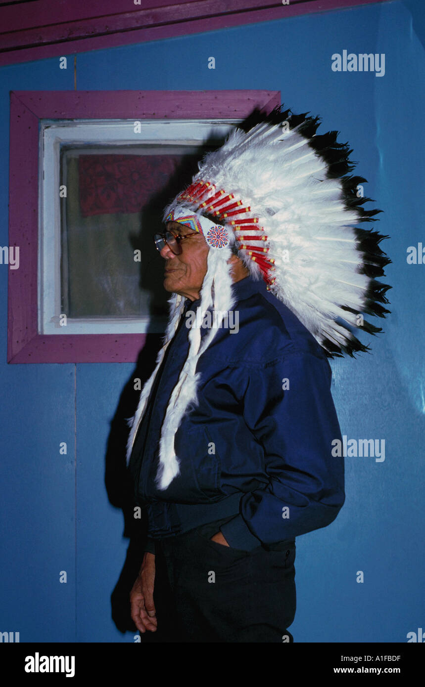 Dogrib First Nations Chief Yellowknife NWT - Stock Image