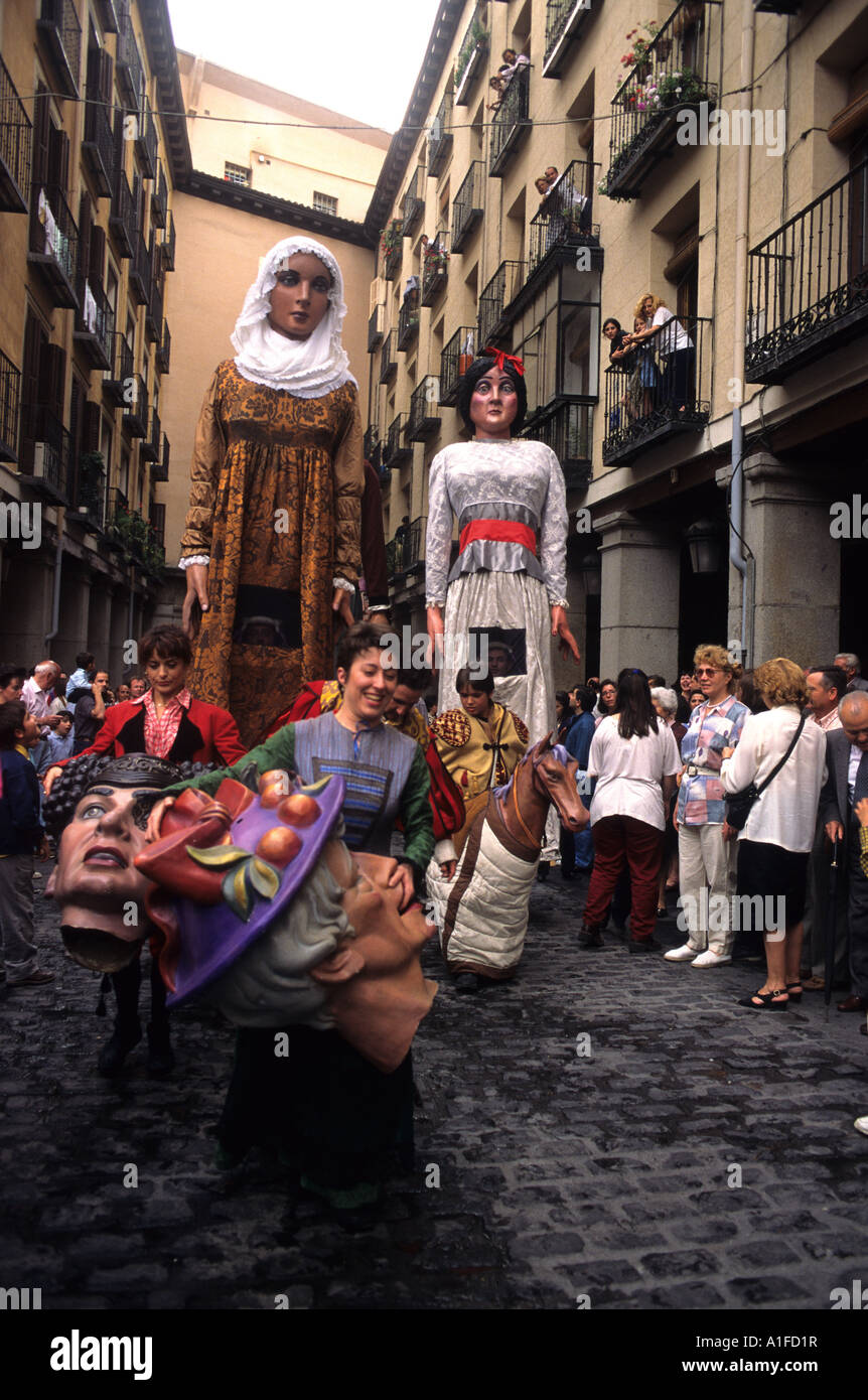 Gigantes Y Cabezudos San Isidro Festival Madrid Spain Stock Photo