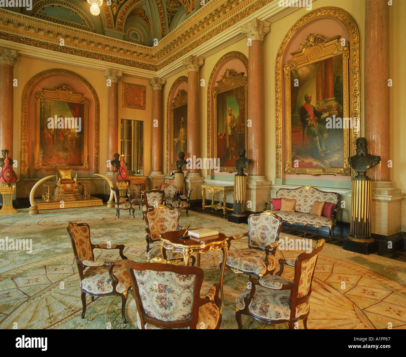 Interior of the Drawing Room in the Royal Palace in Bangkok Thailand ...
