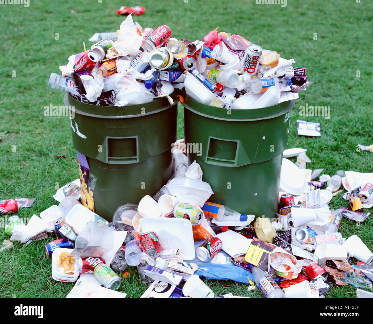 two-garbage-cans-A1FG5F.jpg