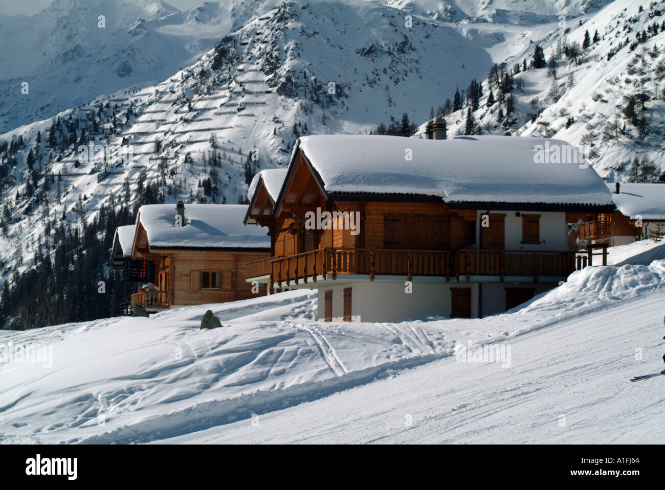 swiss ski chalet les collons verbier switzerland alpine ski resort