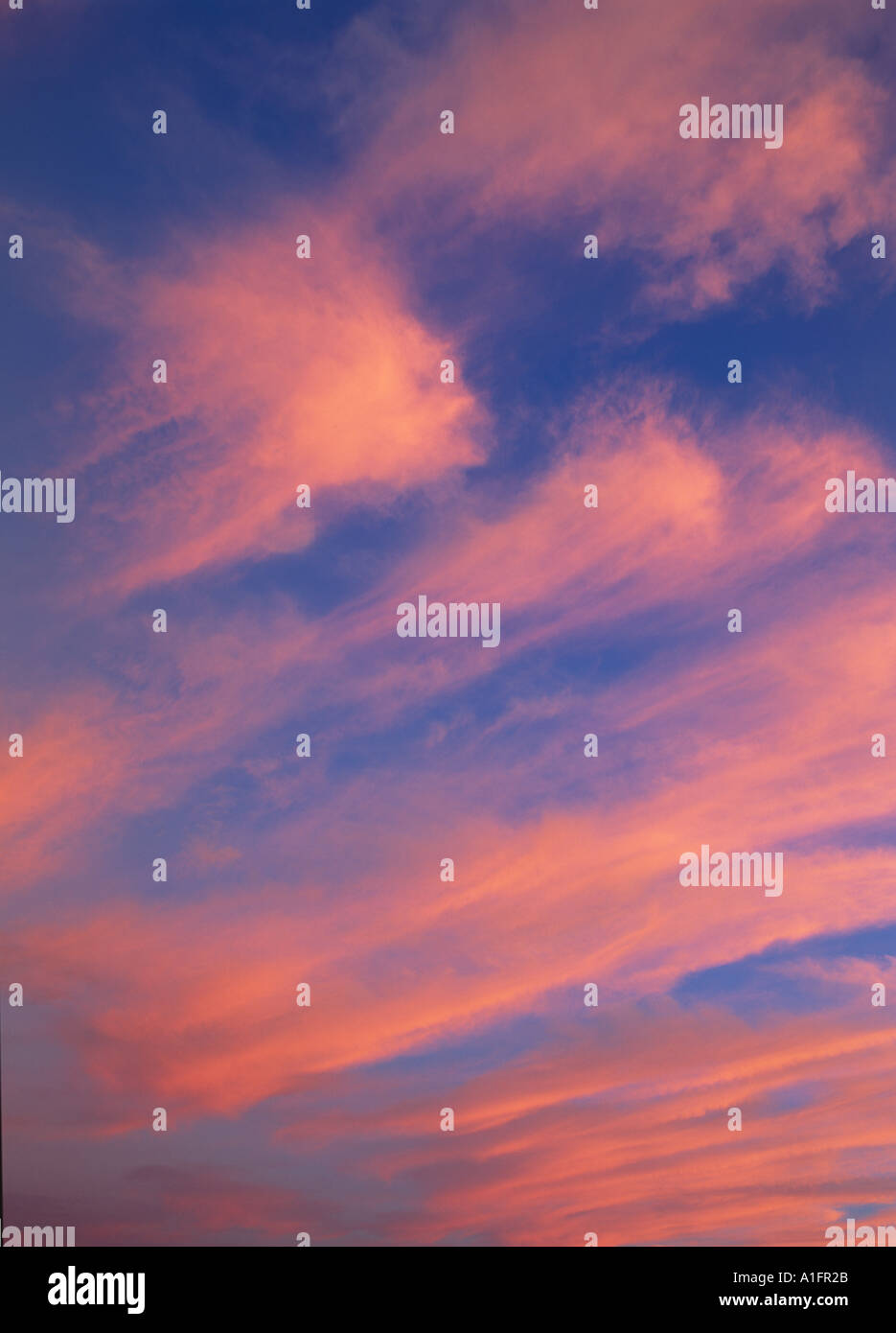 Clouds over willamette Valley OR near Junction City - Stock Image