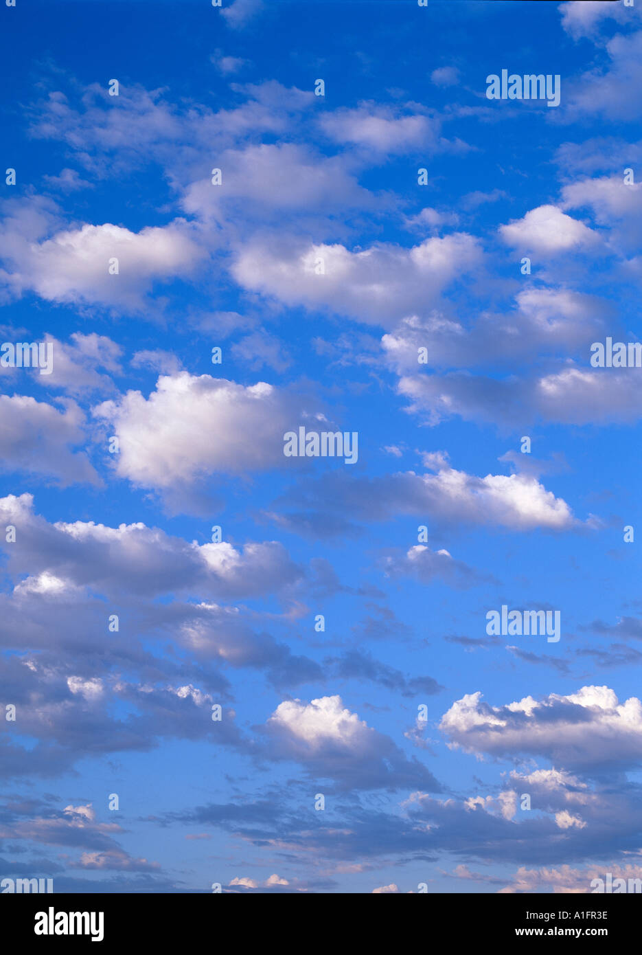 Puffy clouds - Stock Image