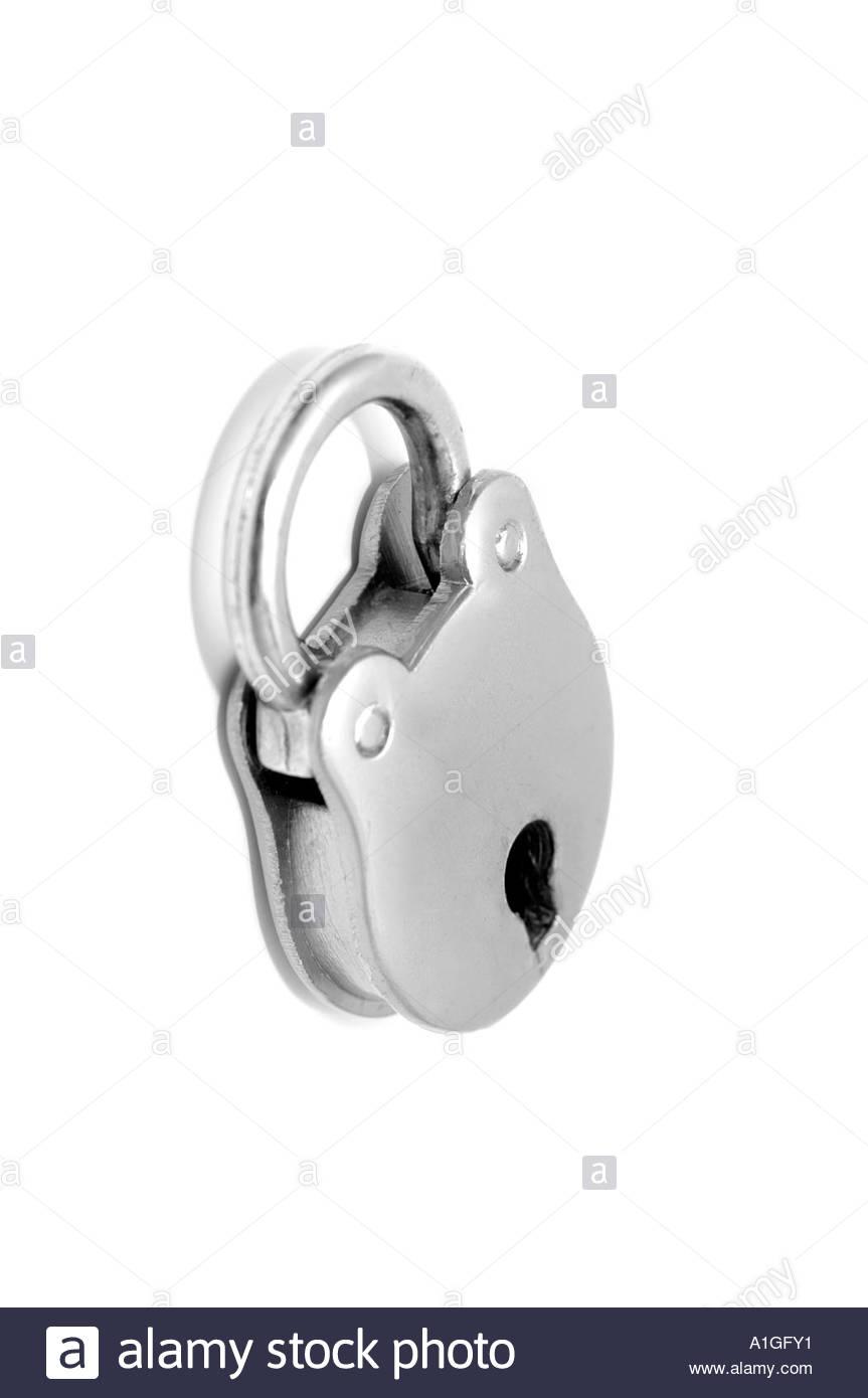 Small  padlock with modern toning - Stock Image