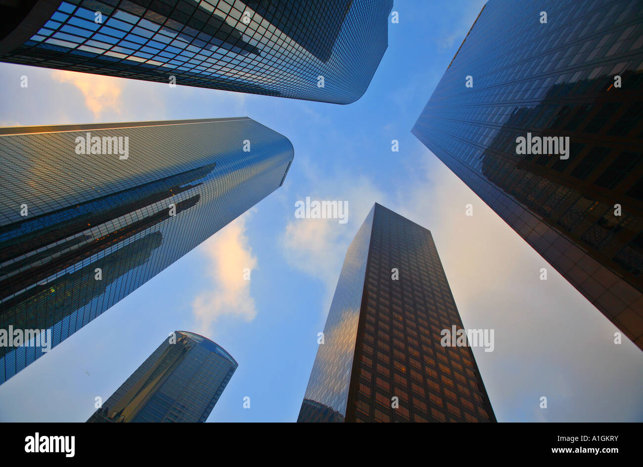 Buildings On Main Street Downtown Los Angeles Los Angeles County California United States - Stock Image