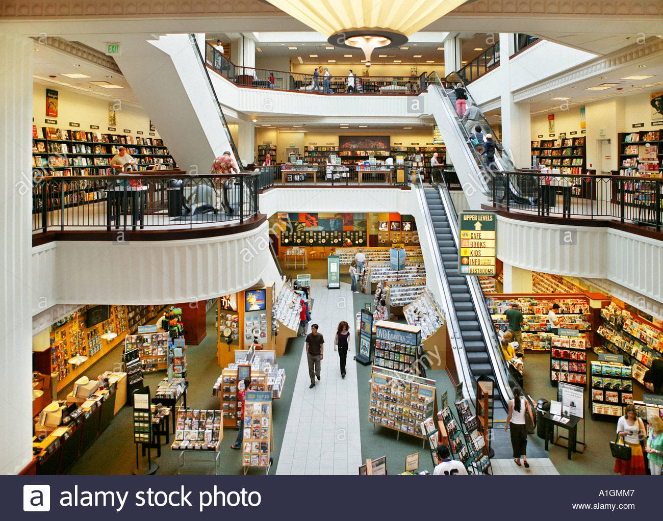 Interior Of A Barnes And Noble Bookstore The Grove Shopping Mall