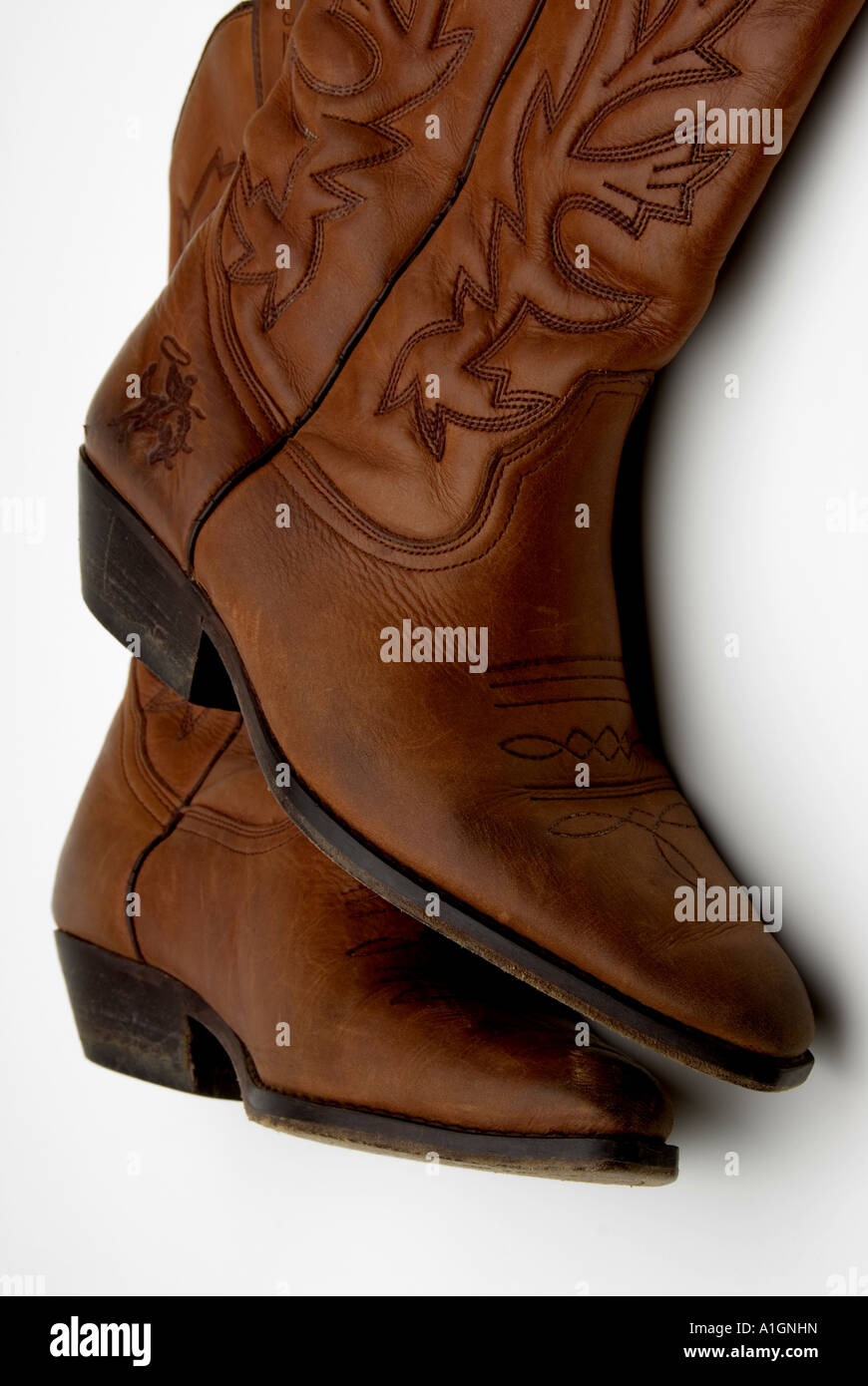 f0321fc79fc Worn Pair of old cowboy boots, close up Stock Photo: 10255712 - Alamy