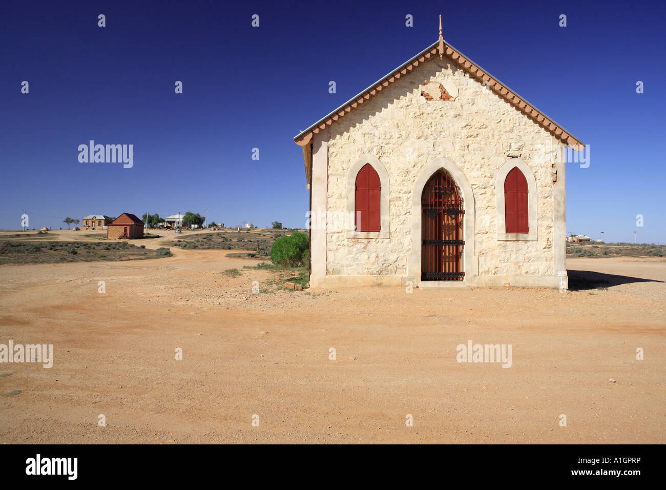 Historic Methodist Church built in 1885 Silverton near Broken Hill New South Wales Australia Stock Photo