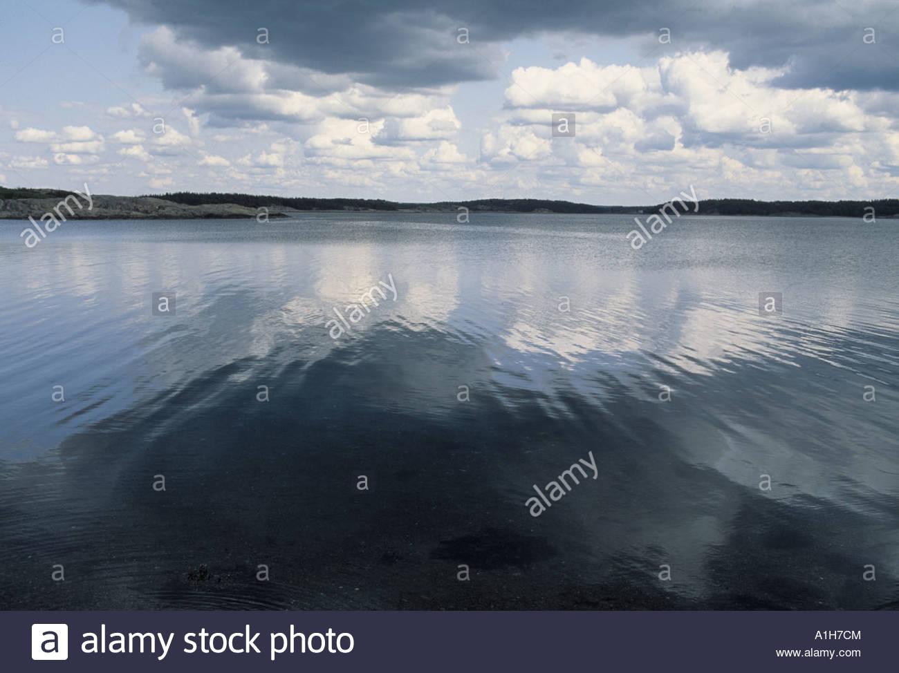Clouds over the sea. Vastkusten, Sweden - Stock Image