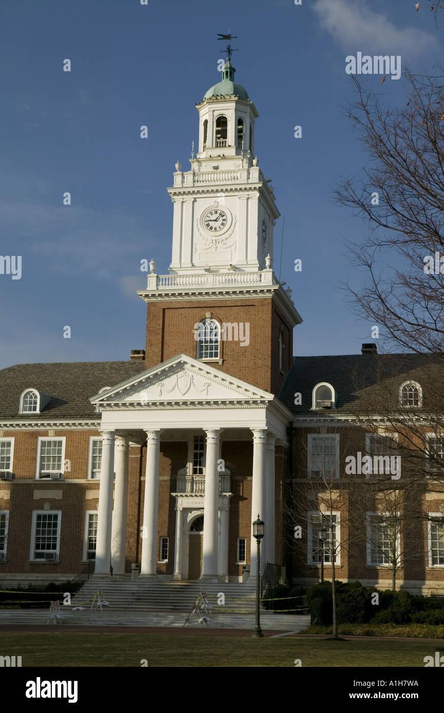 Gilman Hall Johns Hopkins University Baltimore Maryland Stock Photo