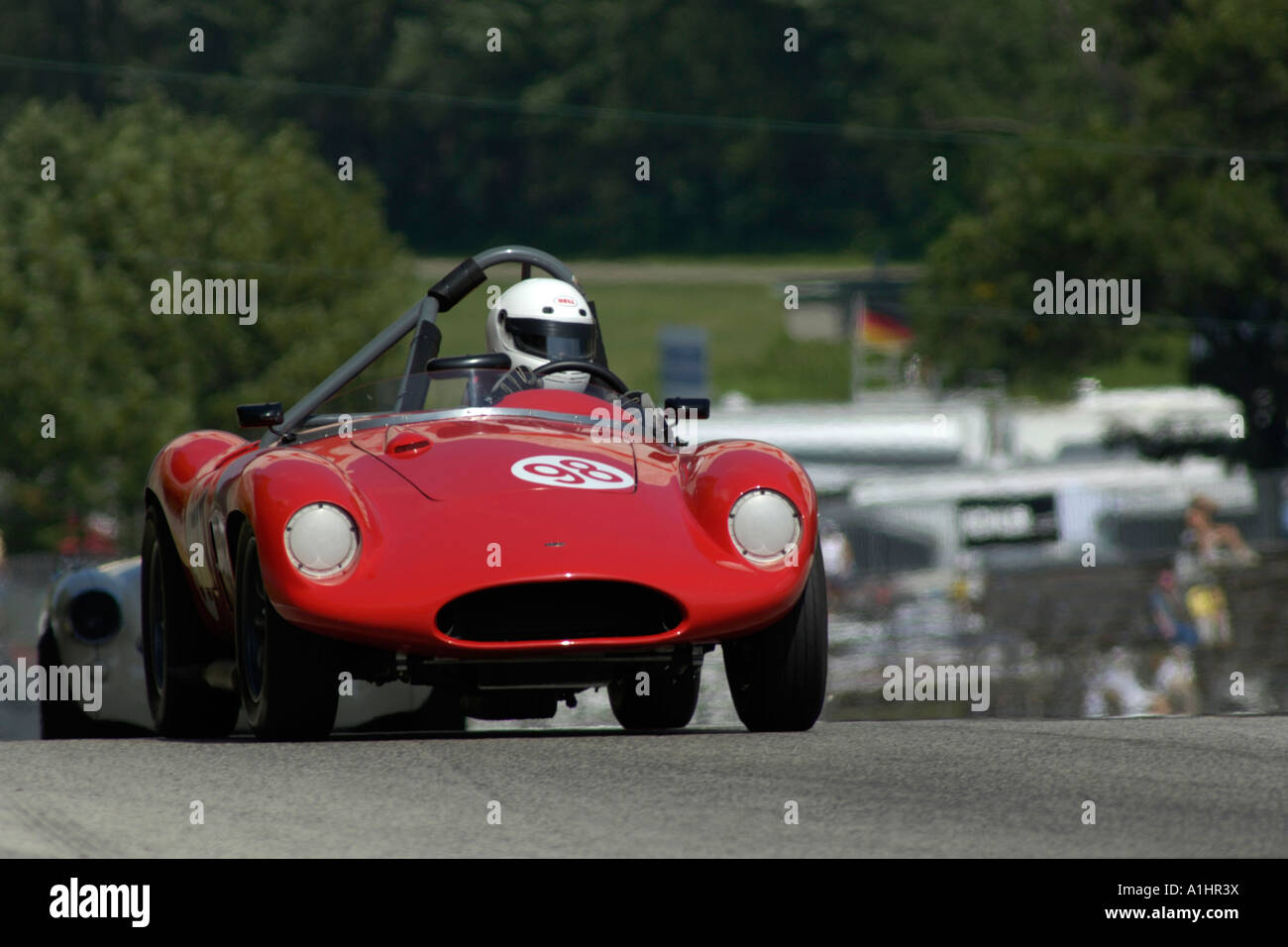 Bill Hart races his 1957 Devin Triumph at the Kohler International Challenge with Brian Redman 2006 - Stock Image