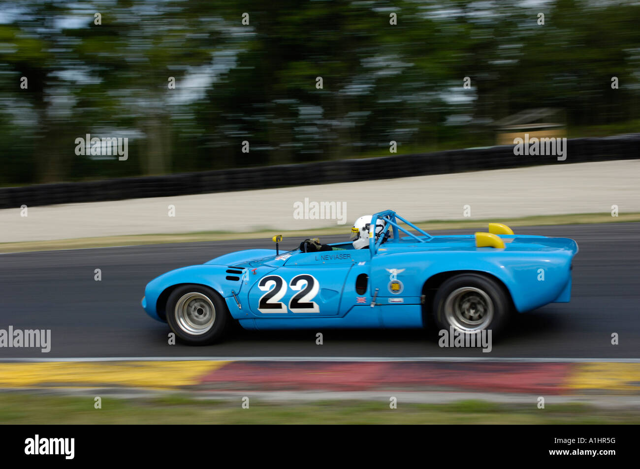 A 1968 Ginetta G16 at the Kohler International Challenge with Brian Redman at Road America 2006 - Stock Image