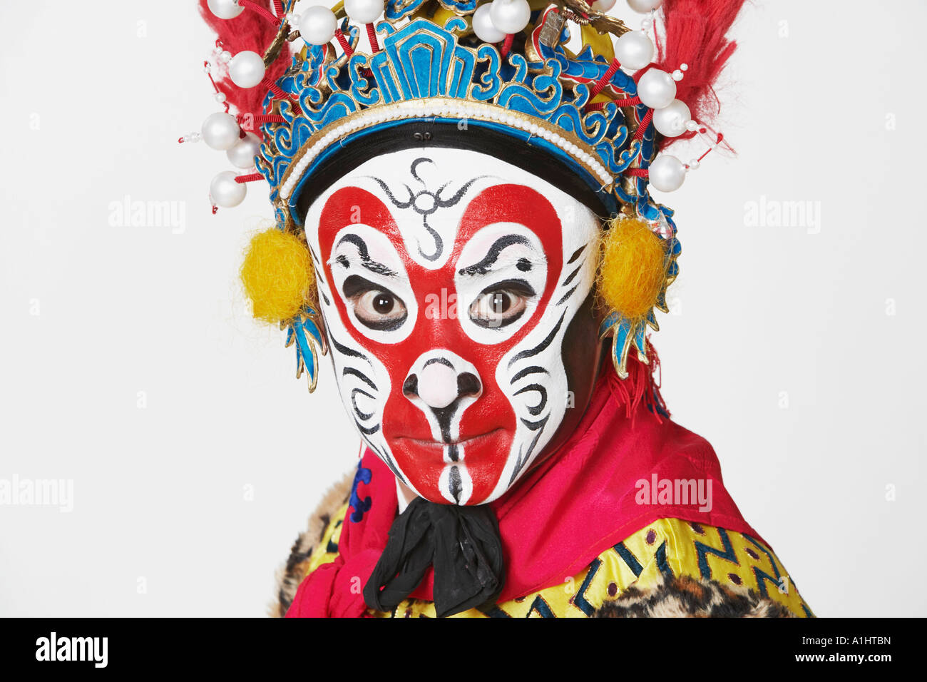Portrait of a male Chinese opera performer - Stock Image