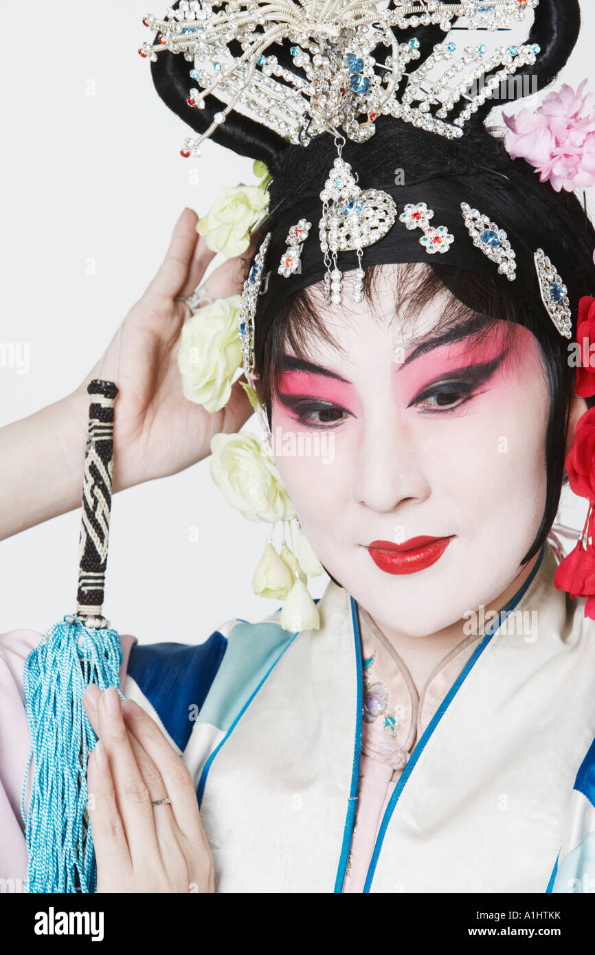 Mature woman wearing traditional clothing Stock Photo