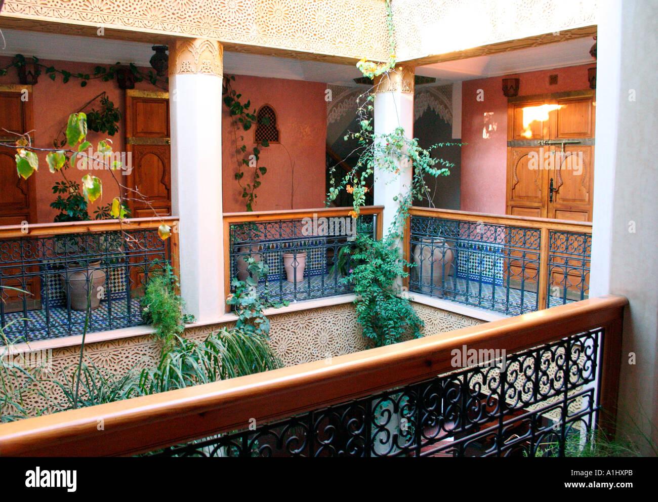 Moroccan Riad, Interior Courtyard Of Riad Jnane Mogador, Marrakech,  Morocco, Northwest Africa