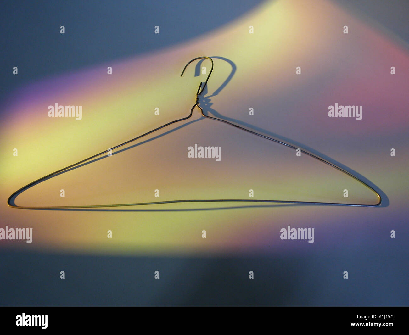 Metal hanger - Stock Image