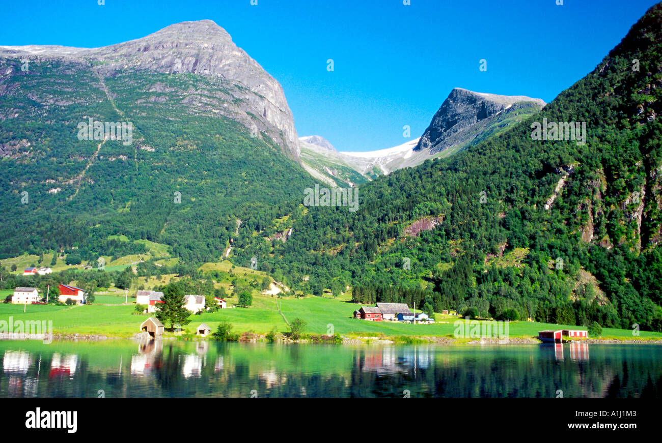 Mountains and valleys of Norway - Stock Image