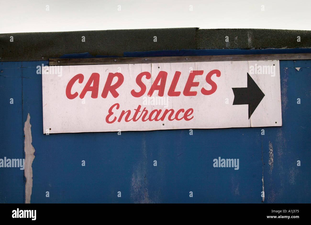 A USED CAR DEALERSHIP UK - Stock Image