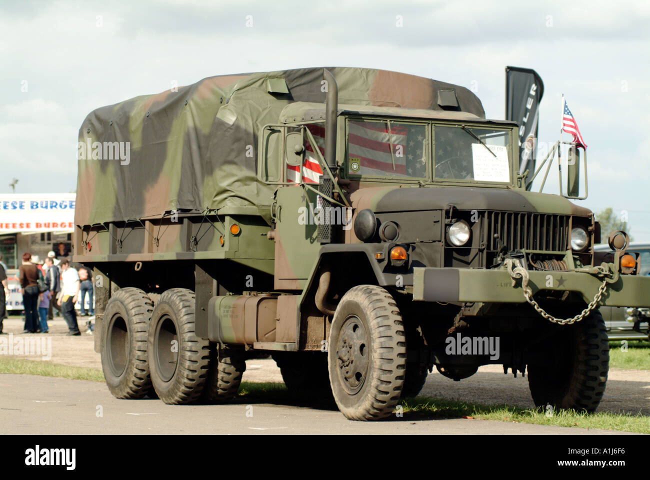 american miltary vechical camoflage camo world war 1 one two 2 truck car lorry transport diesel - Stock Image