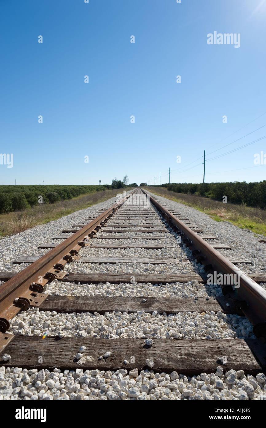 Converging Rails Stock Photos & Converging Rails Stock