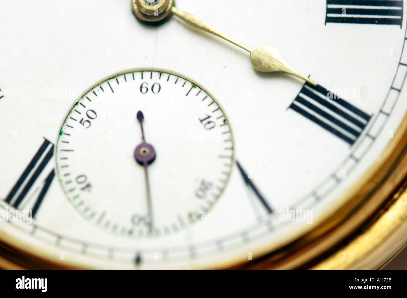 Close up of an old pocket watch - Stock Image