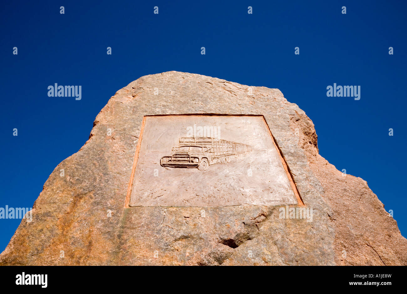 Memorial to Noel Buntine, Australian Trucking Pioneer - Stock Image