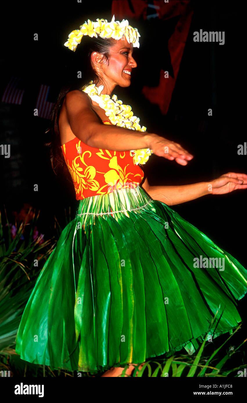 Hawaiian dancer Honolulu Hawaii USA - Stock Image