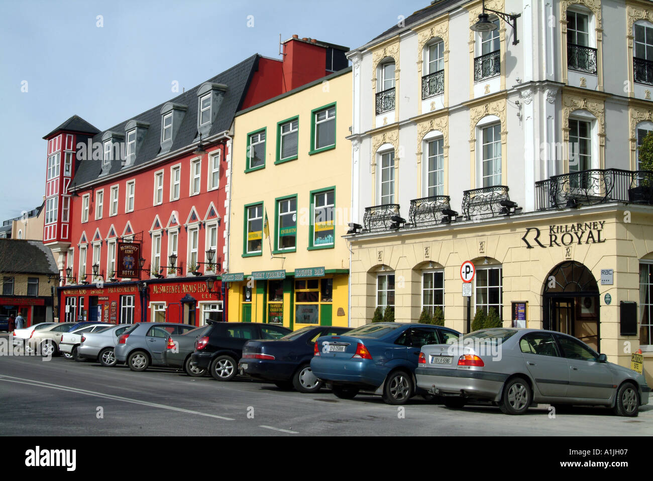 Hotels And Bars In Killarney Town Centre County Kerry Ireland Eire