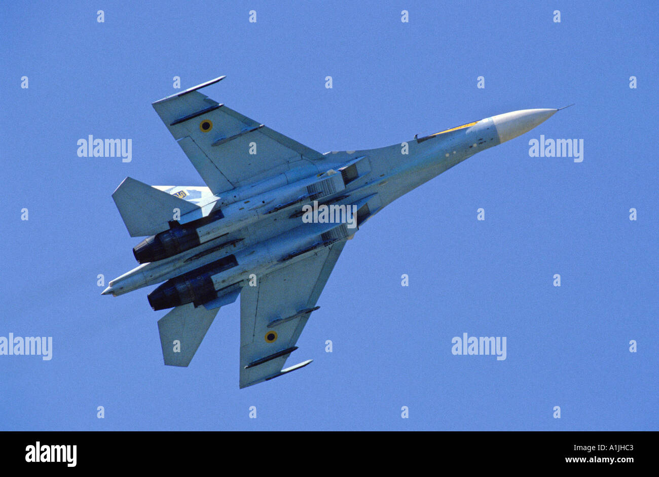 Ukrainian Air Force Sukhoi Su-27 Flanker fighter aircraft - Stock Image