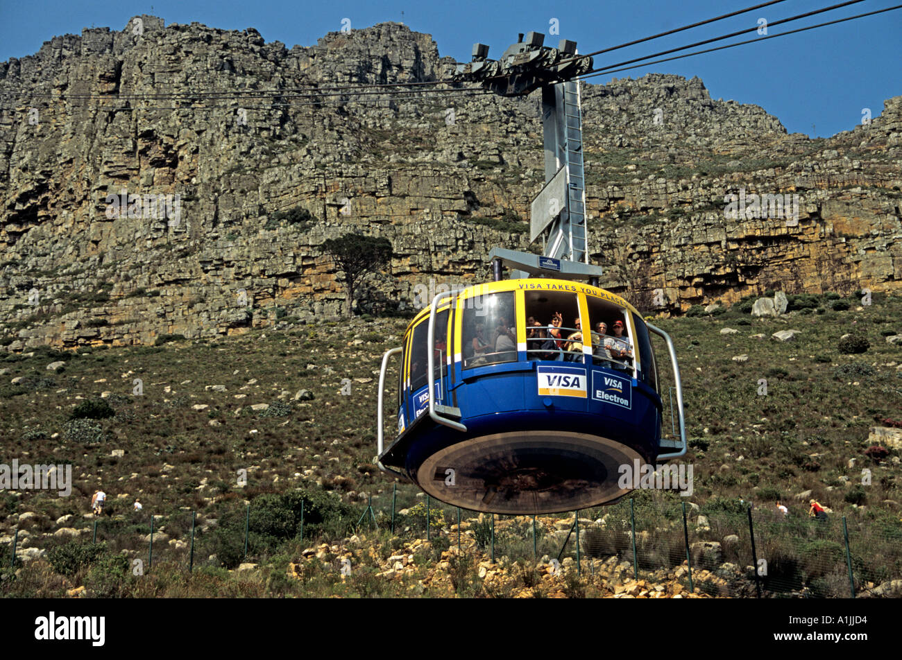CAPE TOWN SOUTH AFRICA October The Table Mountain Cable Car which rotates during the journey allowing visitors all round views - Stock Image