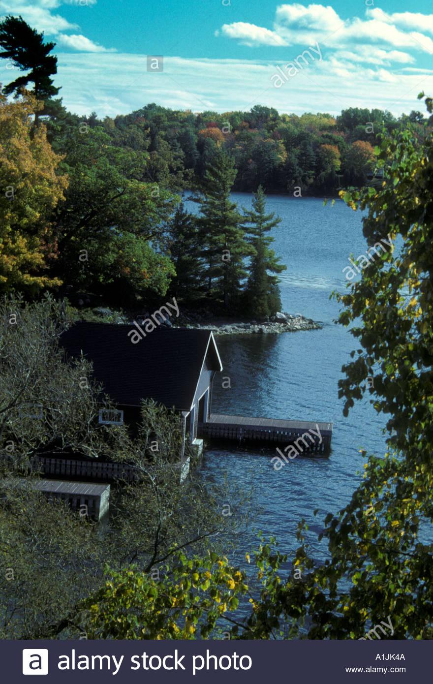 Cottage country Kawartha area Ontario - Stock Image