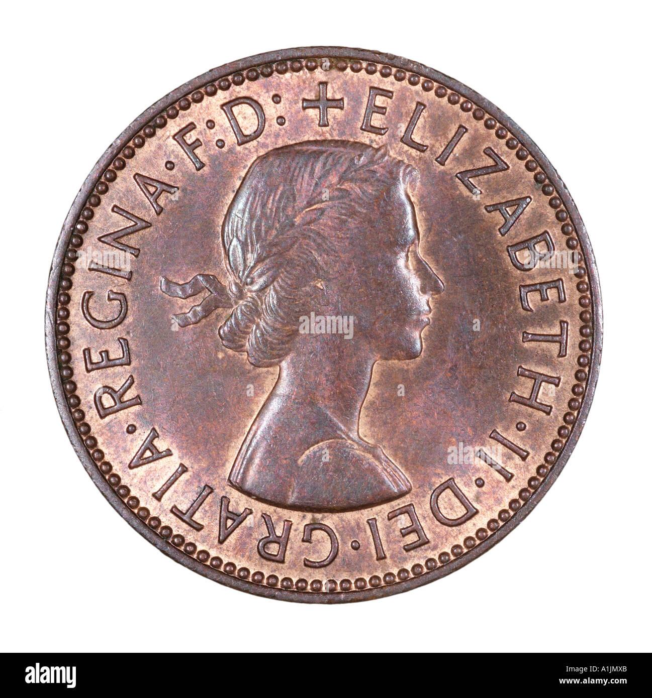 Queen Elizabeth Regina II 2 Reg fid def pre decimal half