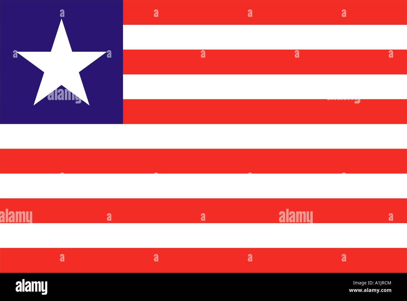 Liberia national flag - Stock Image