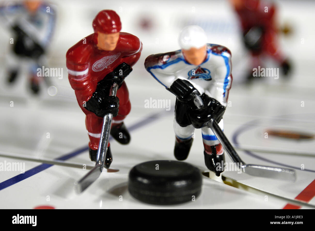 Toy Stiga Stanley Cup Hockey table game players face off Detroit Red ...