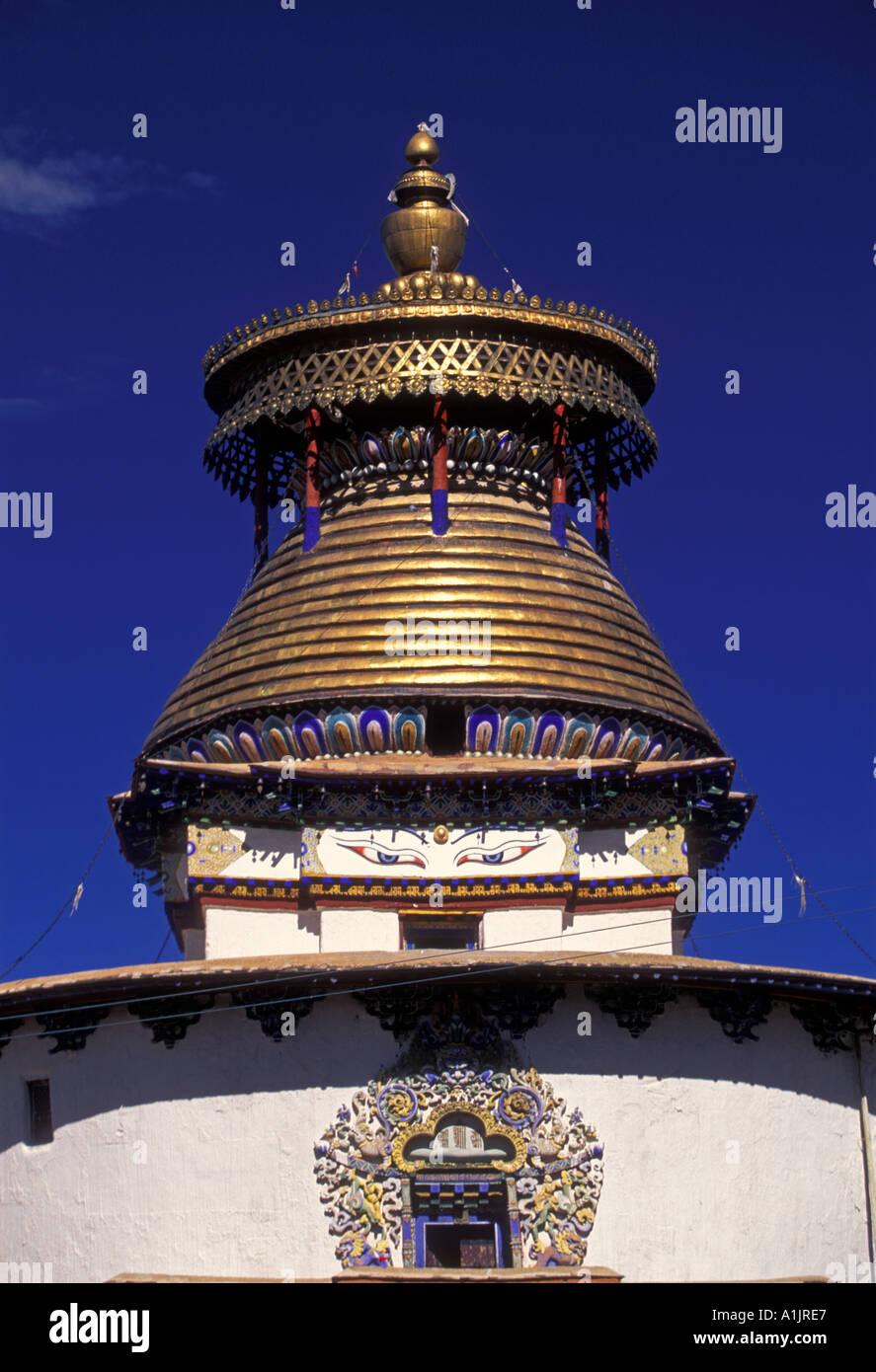 kumbum, chorten, Pelkor Chode Monastery, Buddhism, Buddhist monastery, Buddhist temple, temple, town of Gyantse, Tibet Autonomous Region, China, Asia - Stock Image