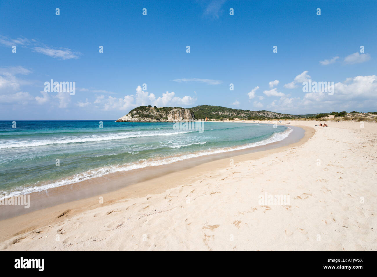 Voidokilia Beach, Petrohori near Yialova, Messinia, Peloponnese, Greece - Stock Image