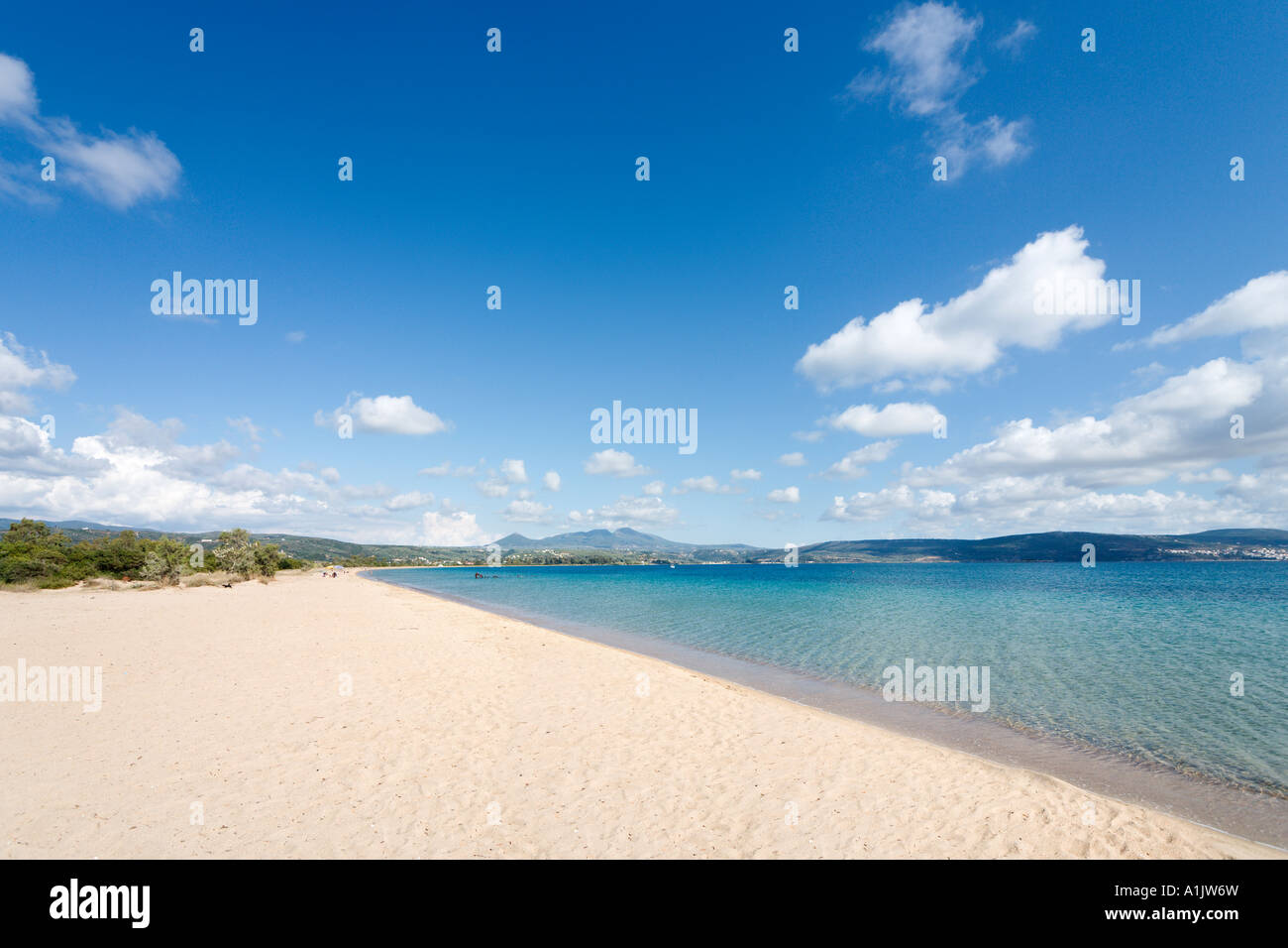 Golden Beach, Yialova, Messinia, Peloponnese, Greece - Stock Image