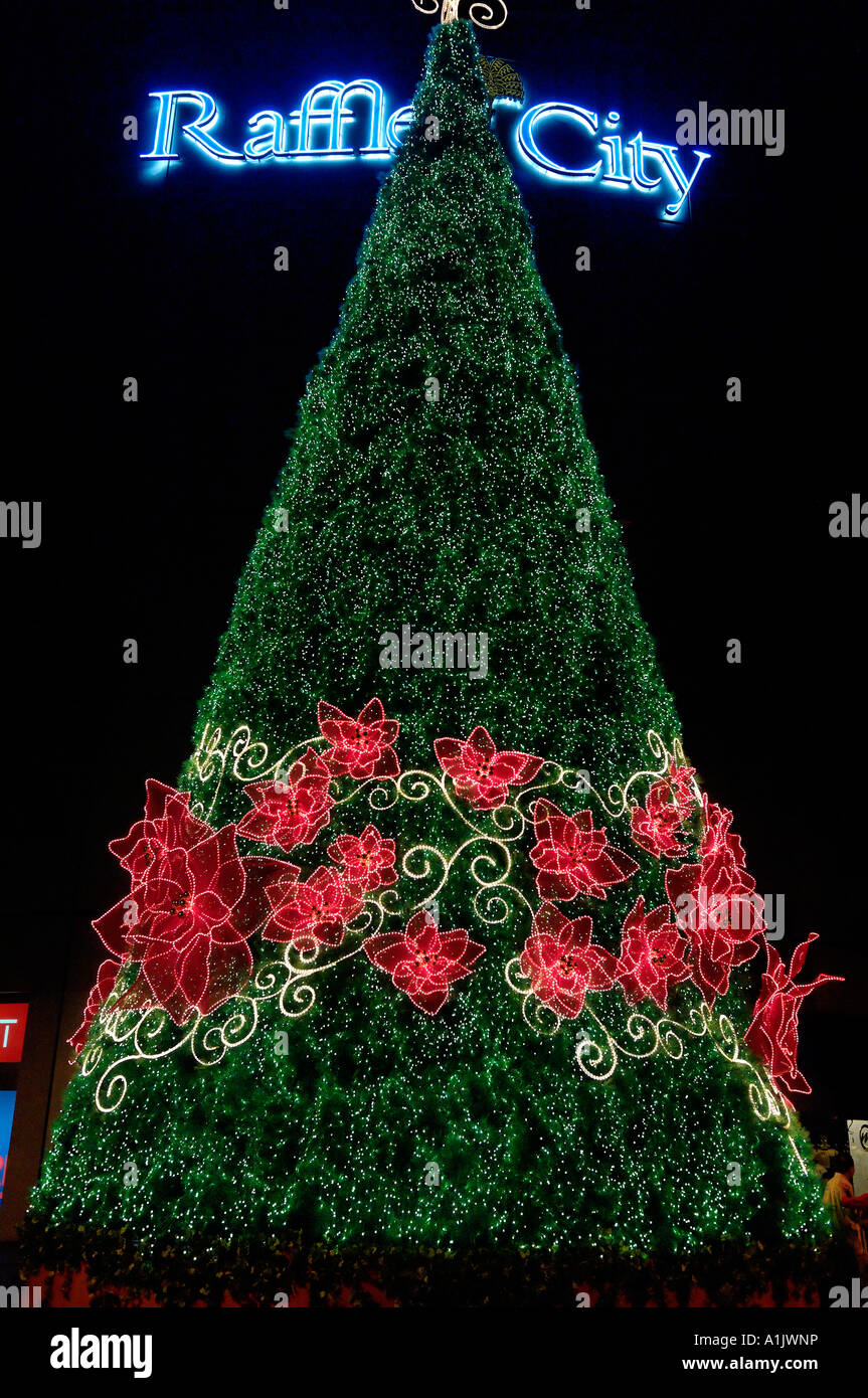 Orchid Christmas Tree.Christmas Tree And Orchid Garland In Singapore Outside The