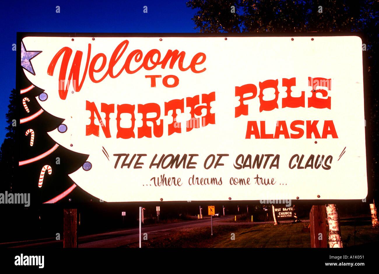 North Pole township Alaska USA where North Pole Christmas Store is ...