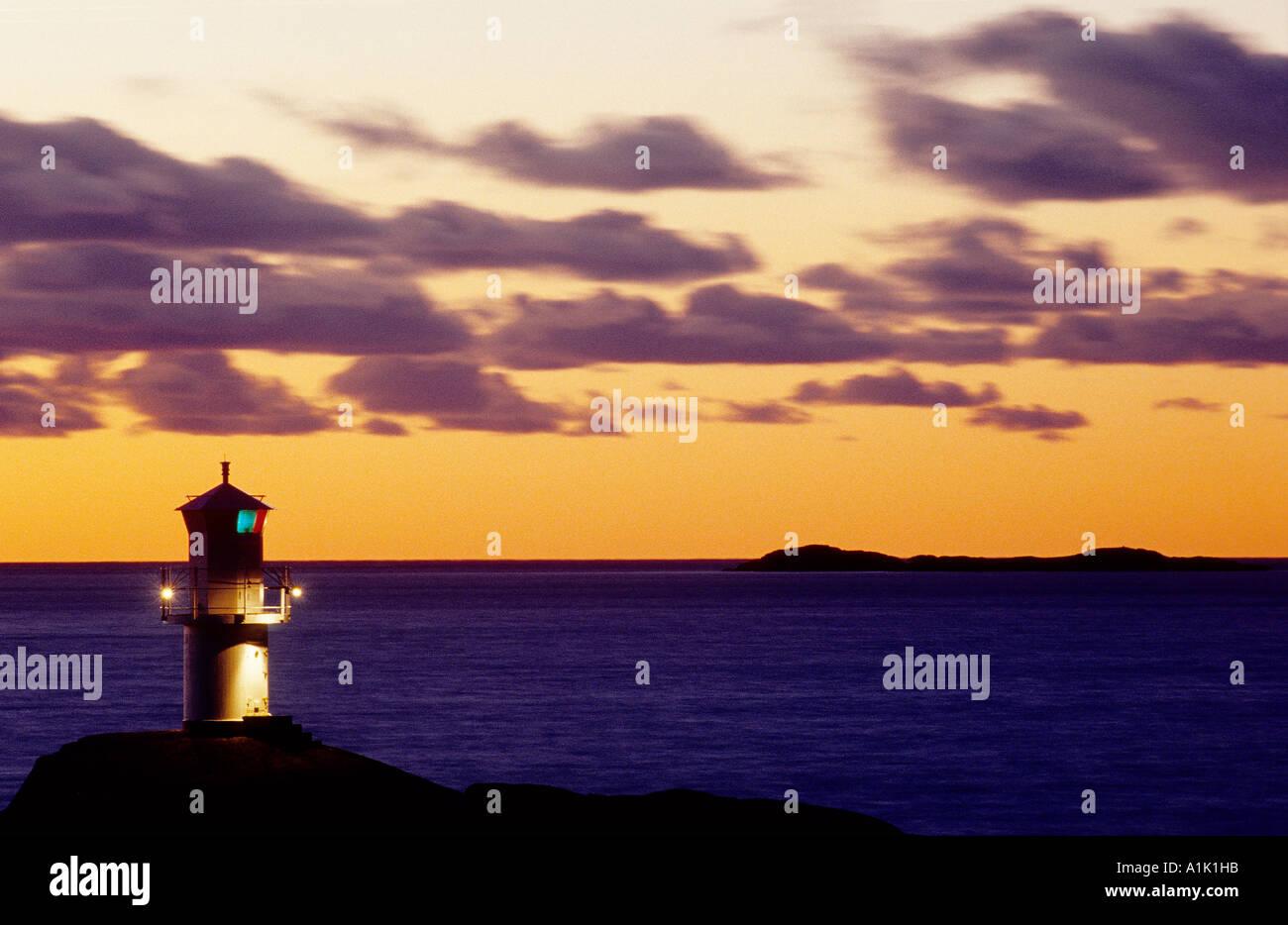 Lighthouse . Marstrand , Bohuslan , Sweden Stock Photo